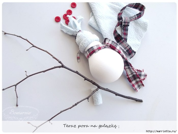 Снеговик из лампочки из лампочки,своими руками,сделай сам,снеговик
