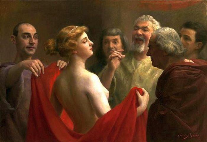 Как красивая грудь помогла греческой гетере спастись от казни