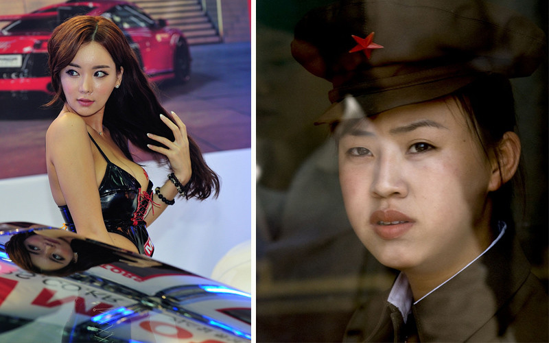 Девушки Южной и Северной Кореи. Такие похожие и такие разные