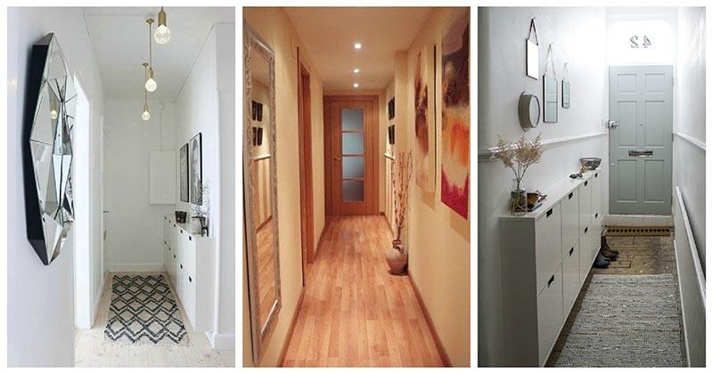 Узкий — не значит неудобный: стильные идей для узкого коридора