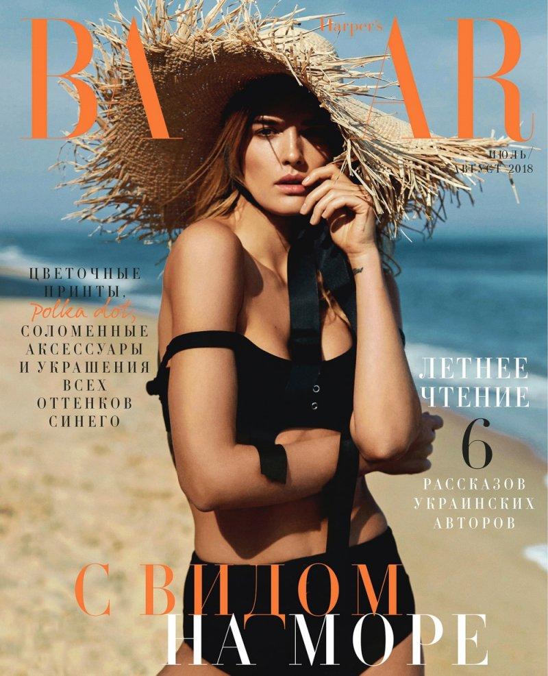 Наталья Гоций (Nataliia Gotsii) в фотосессии для журнала Harper's Bazaar  (Июль 2018)