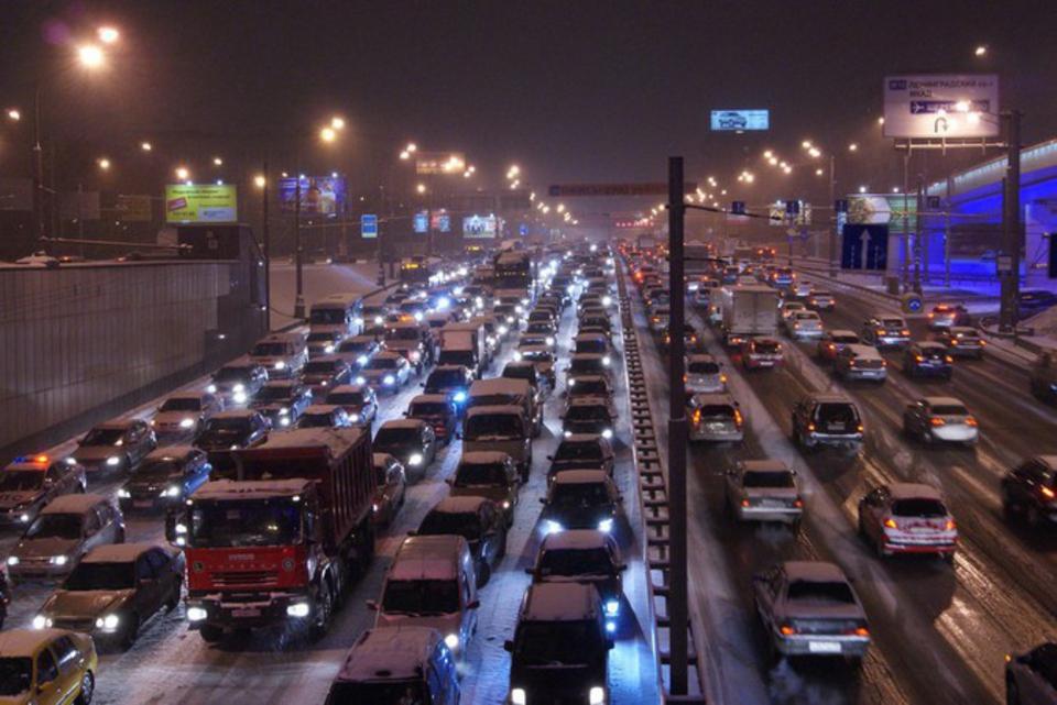 «Новогодние» пробки вМоскве…
