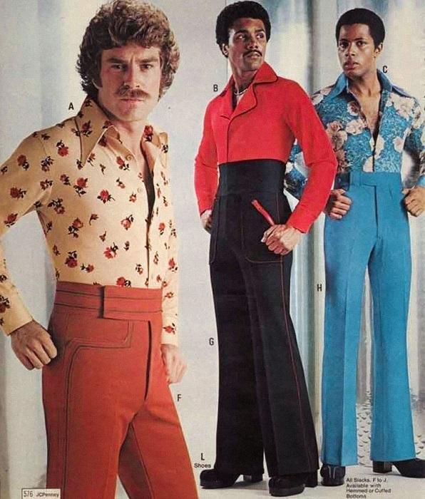 Мужская мода полувековой давности.