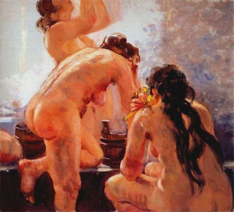Картинки по запроÑу бабы моютÑÑ Ð² бане живопиÑÑŒ