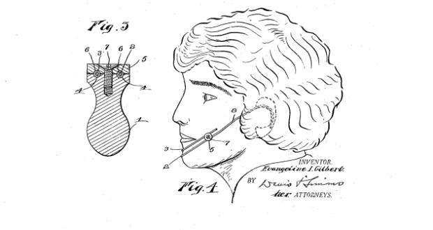 Схема прибора для создания ямочек на щеках