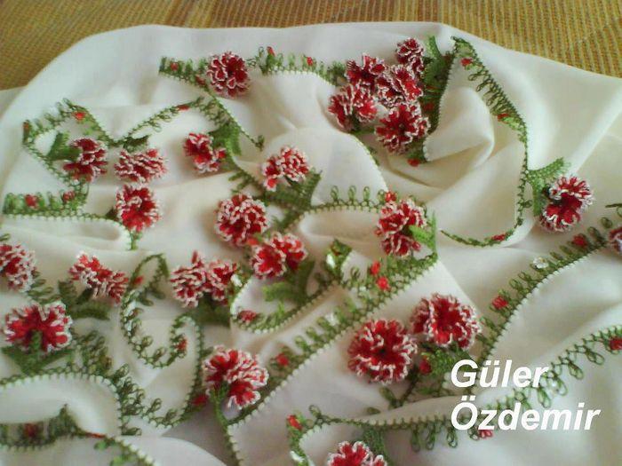 Как обшить шарф или косынку турецким игольным кружевом Оя