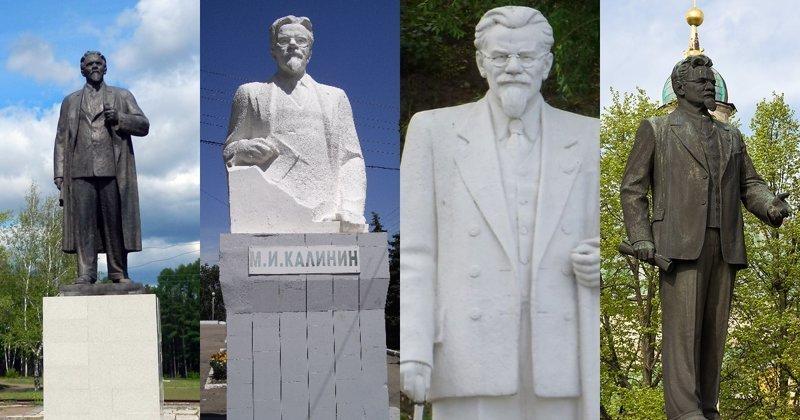 8. Михаил Калинин ленин, памятник, память, пушкин, россия, топ
