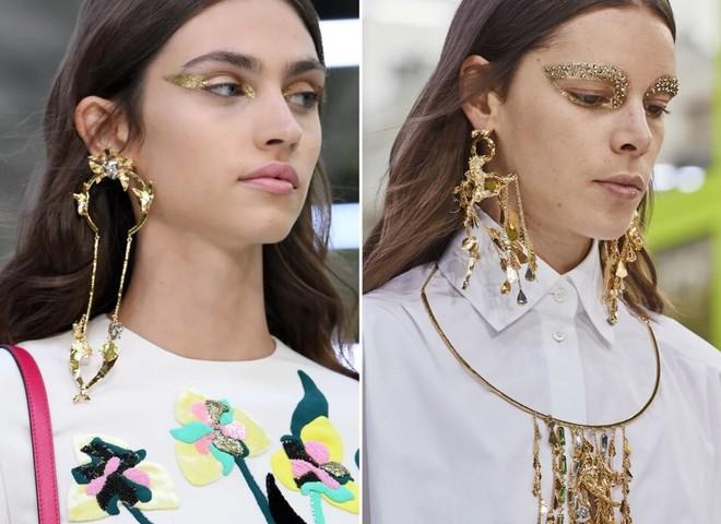 Трендовые серьги на весну 2020: ювелирный макияж, арт-объекты, каффы и многослойность