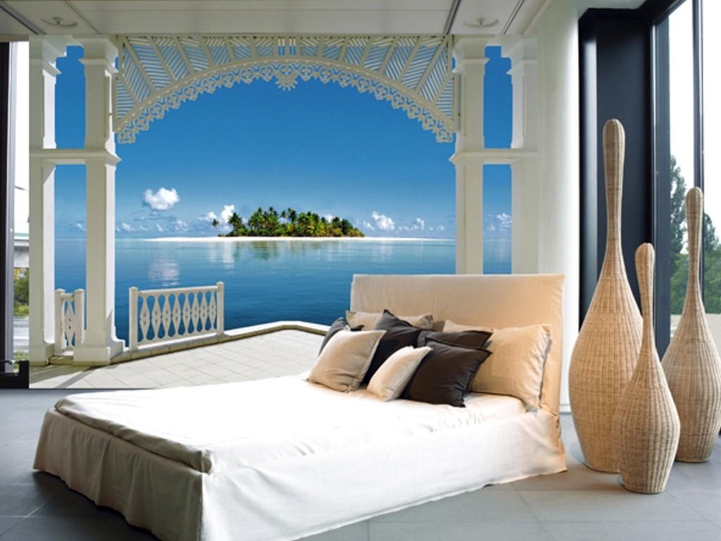гостей фотообои для стен в спальню море органом