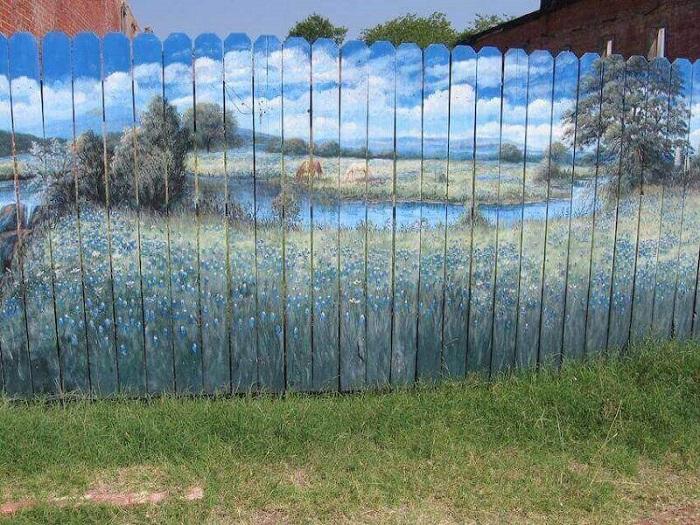 рисунки на заборе на даче своими руками фото простые стеклянных элементов выполняется