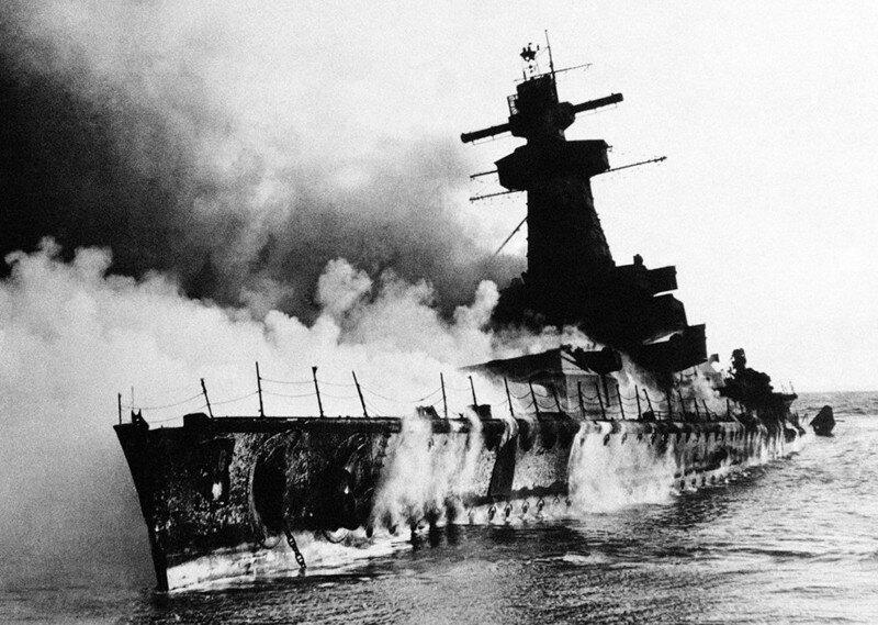 Линкор Граф Шпее. Уругвай. 19 декабря 1939 г. #Фотографии, #история, #факты, .война