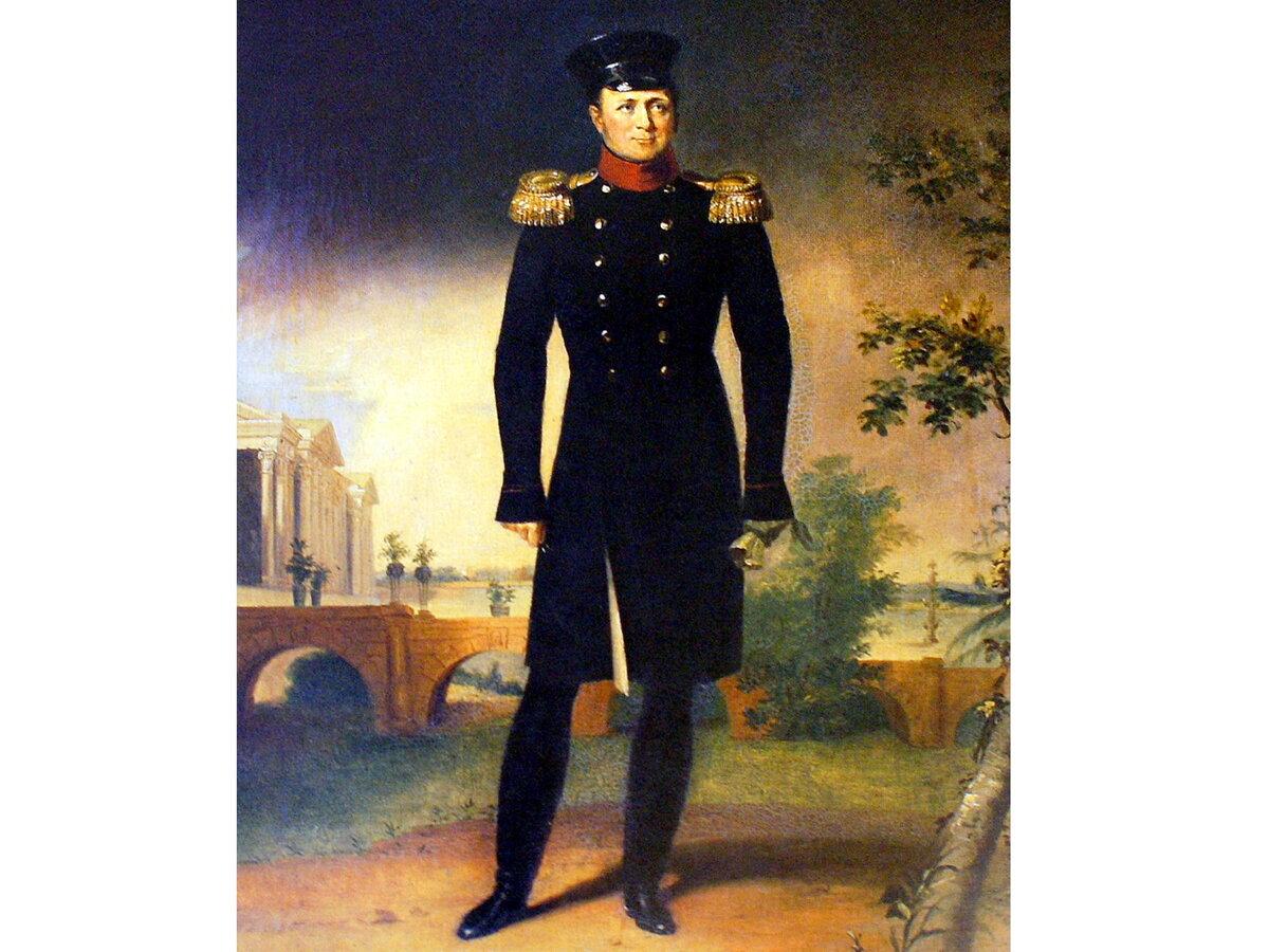 Император Александр I в Царском Селе