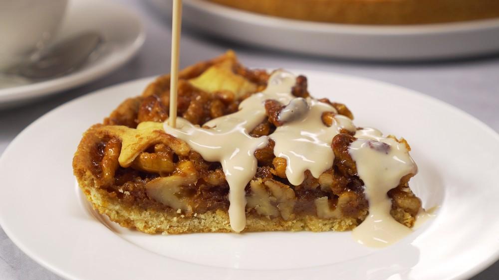 Идеальный карамельно-ореховый пирог – вкус настоящего праздника! десерты,сладкая выпечка