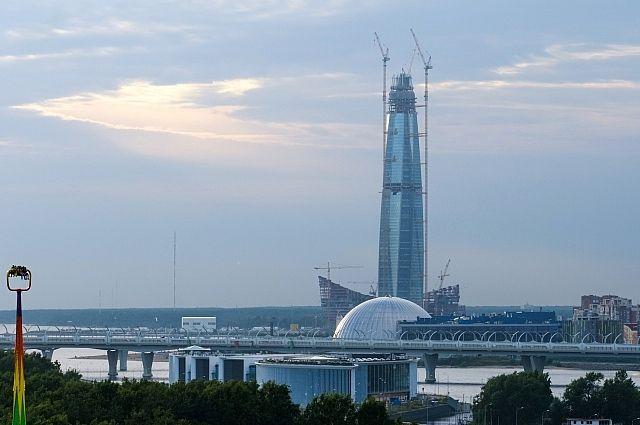 Строящийся «Лахта Центр» признали высочайшим зданием Европы