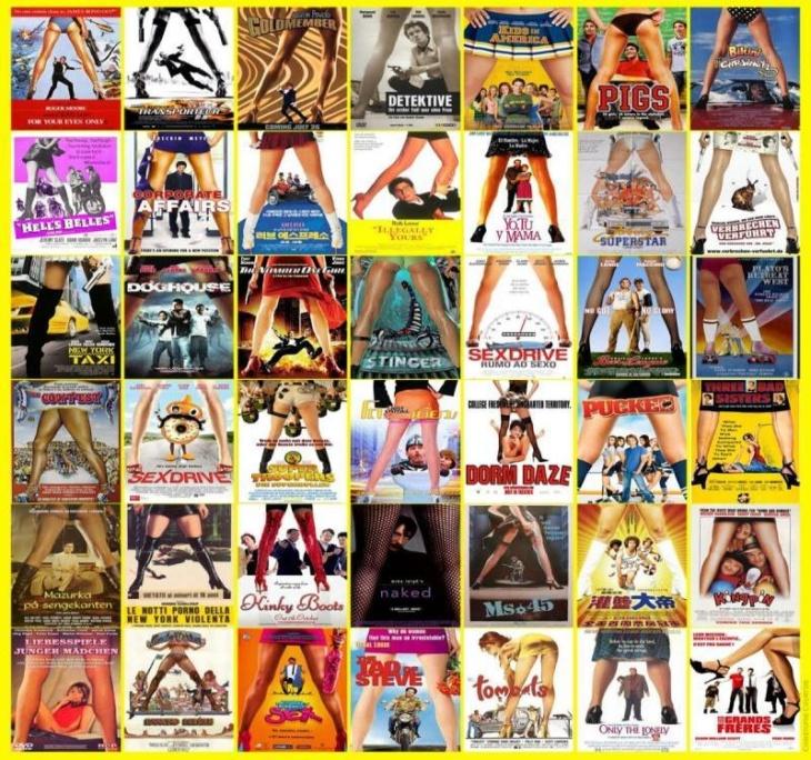 Четыре типа постеров к голливудским фильмам