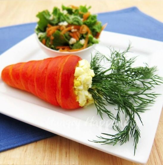 """Салат """"Морковка"""" десерты рецепты, еда, приготовление еды"""