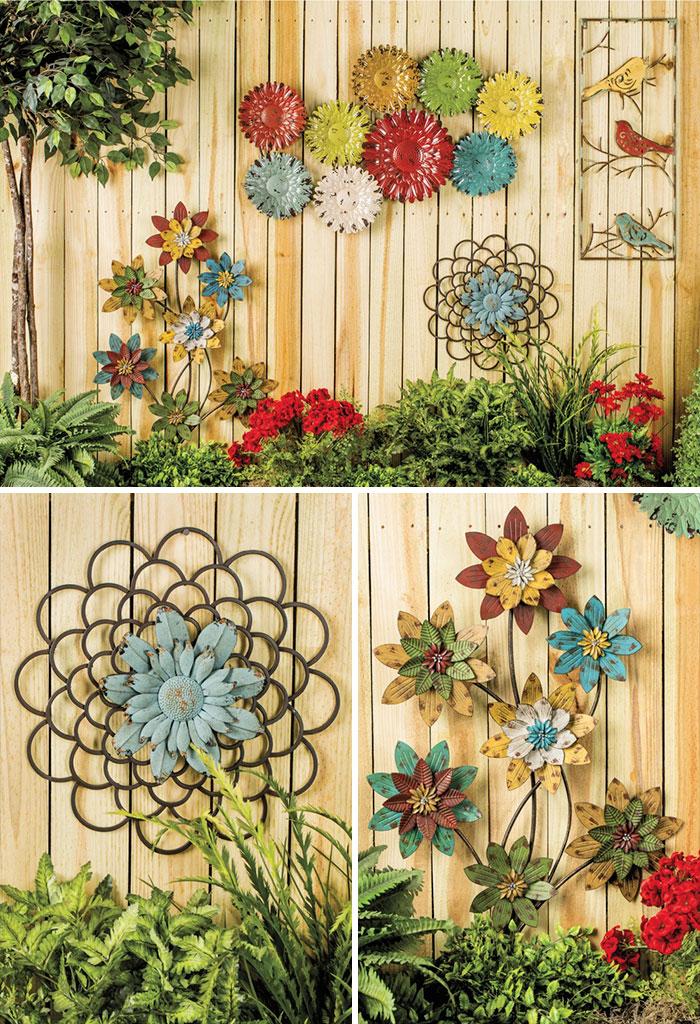 Как украсить забор на даче фото