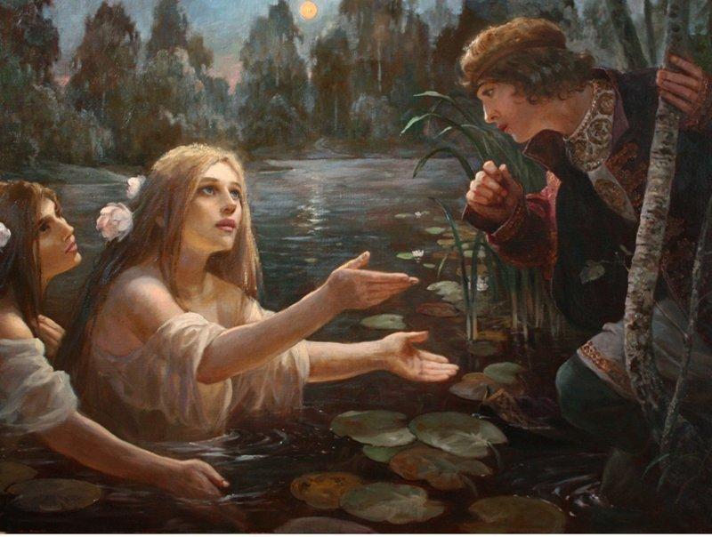 Вода Русы, зеркала, злые силы, обряды, приметы, русалки, суеверия