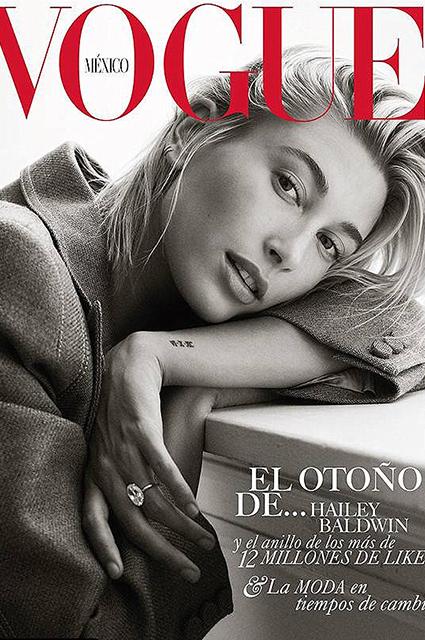Джастин Бибер и Хейли Болдуин снялись для Vogue в первой семейной фотосессии звездные пары