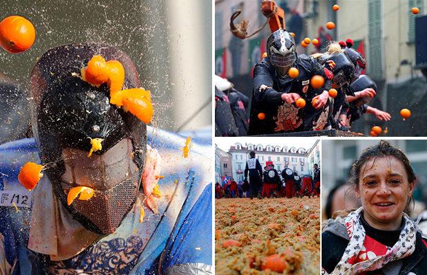 «Апельсиновое сражение» в итальянском городке Ивреа