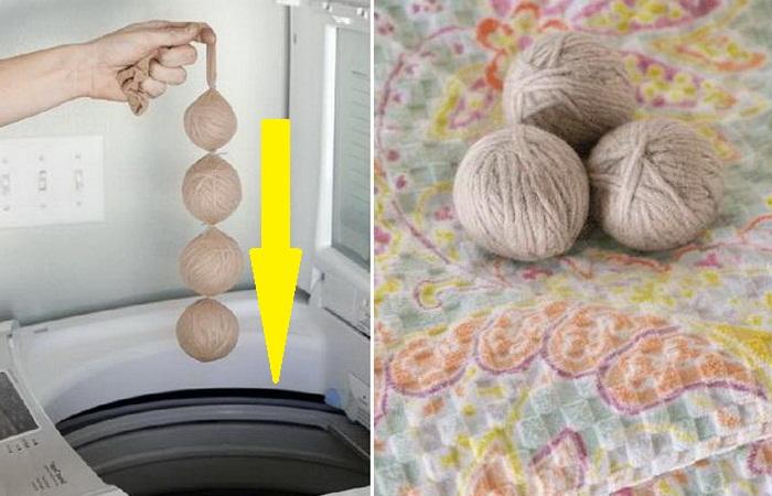 Вот зачем в стиральную машину к белью отправляют мотки пряжи: совет от находчивой хозяйки