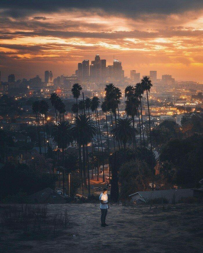 Лос-Анджелес на закате позитив, фото, это интересно