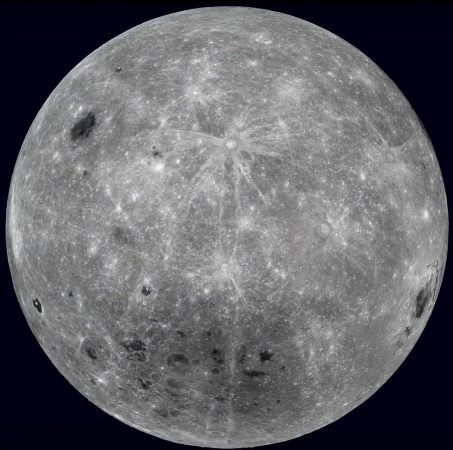 открытому фото со спутника полной луны темного цвета или
