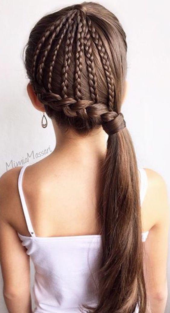 Нарядные причёски для девочек (3 Diy)