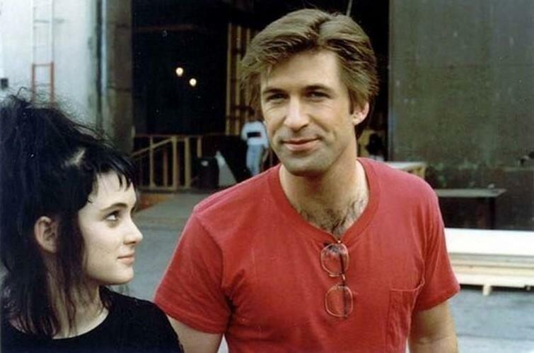 """Вайнона Райдер и Алек Болдуин на съемках фильма """"Битлджус"""", 1988 г история, ретро, фото"""