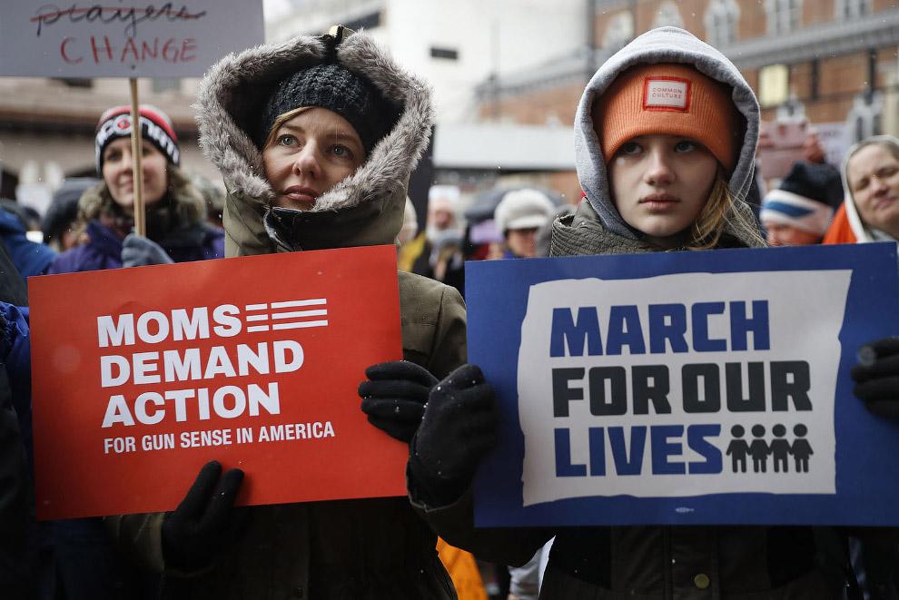 Американцы вышли на марши против оружия