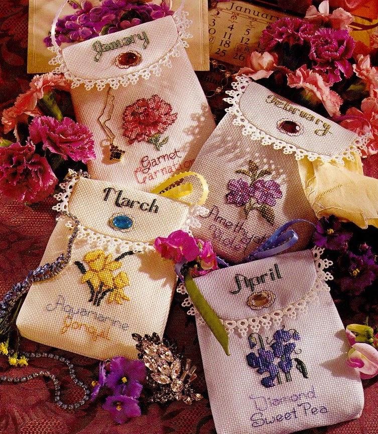 Идеи вышивки для сумочек-саш…