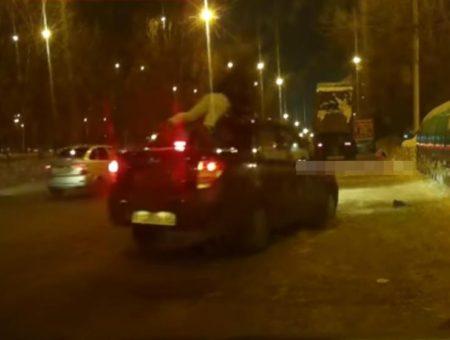 Нетрезвый водитель Лады Гранты «прокатил» на крыше человека 3 километра, когда тот его пытался остановить
