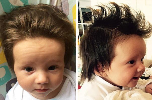 Немножко кошу под Элвиса волосатые, младенцы, смешные дети
