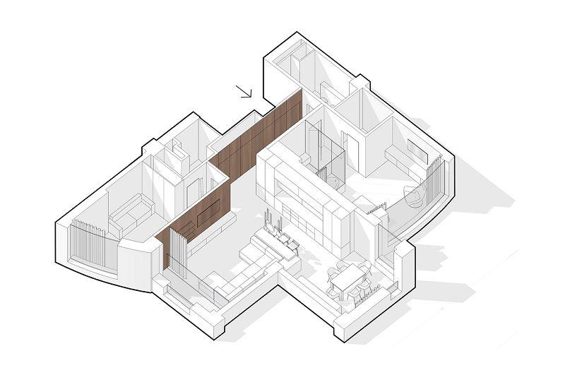 Схема планировки апартаментов