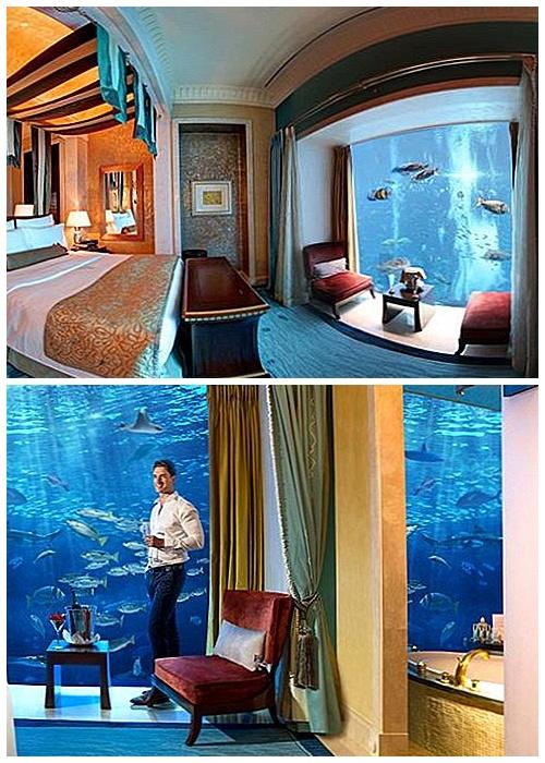 Роскошный отель Атлантида имеет подводную комнату «Палм» (Дубай).