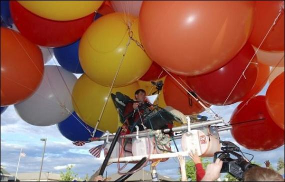 История про путешествие в кресле на воздушных шариках  история,прикол,юмор