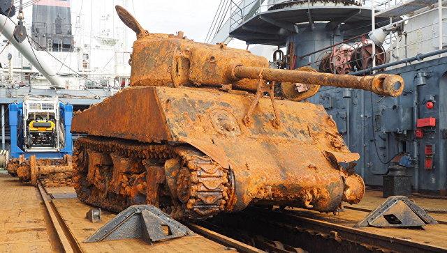 В Ленобласть доставили танк …