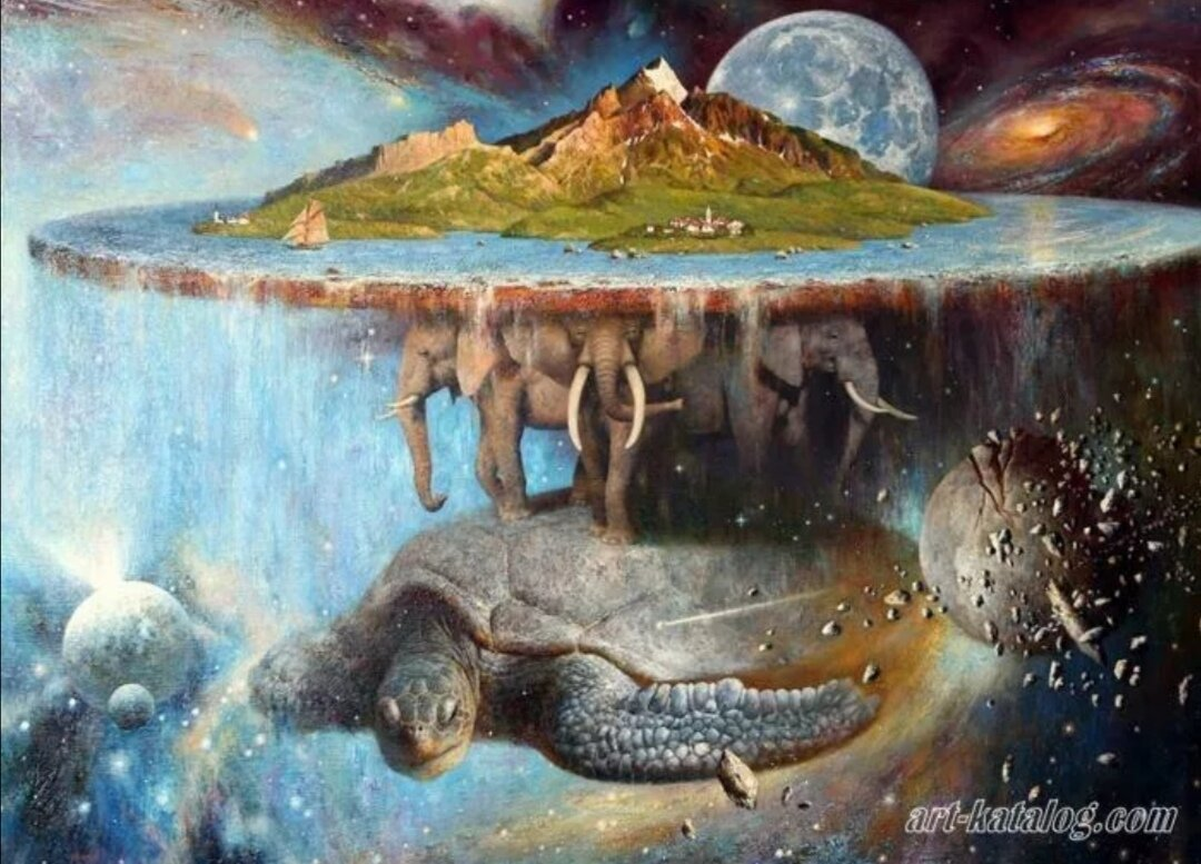 плоская земля картинки со слонами работе представлены