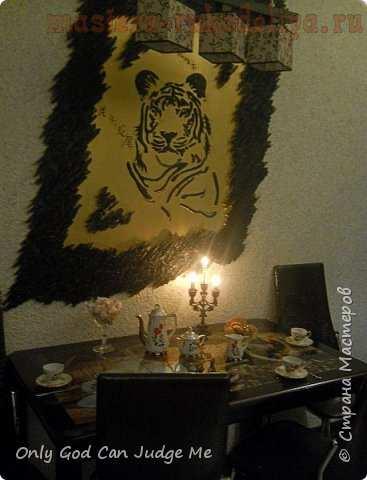 """Барельеф """"Тигр"""". Мастер-класс по декорированию"""