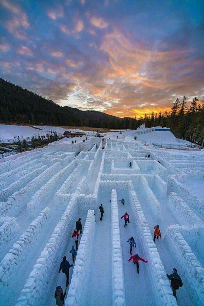 Снежный лабиринт, Польша позитив, фото, это интересно