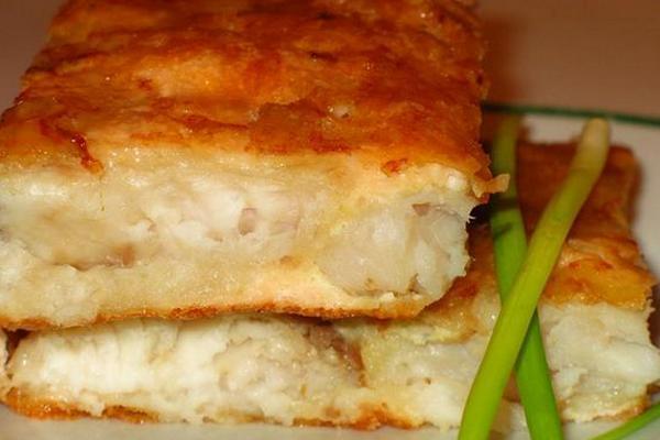Нежная рыба под сырном суфле