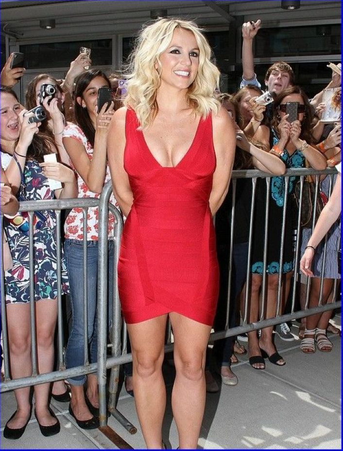Britney Spears Red Dress