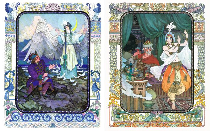 Иллюстрации к сказкам Пушкина.
