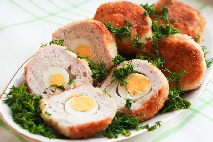 Перепелиные яйца по-шотландски