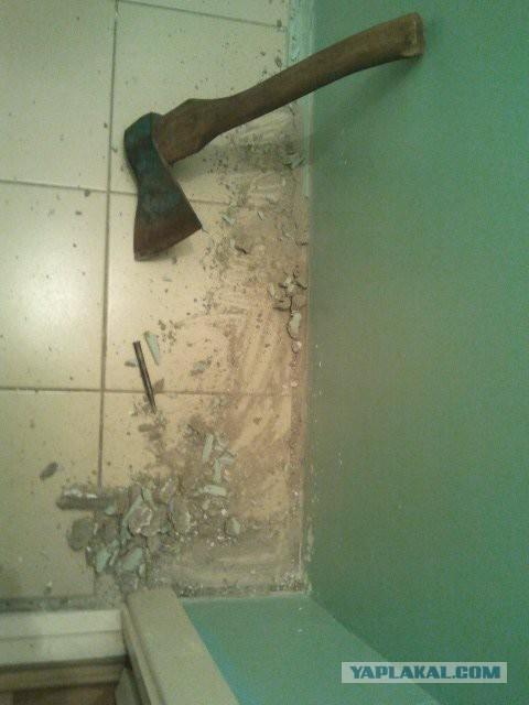 Как я сделал ремонт туалета  и ванной - мое решение!