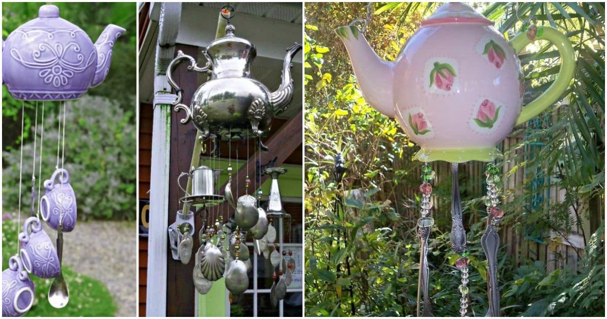 Соорудите оригинальное украшение для вашей дачи из старого чайного сервиза