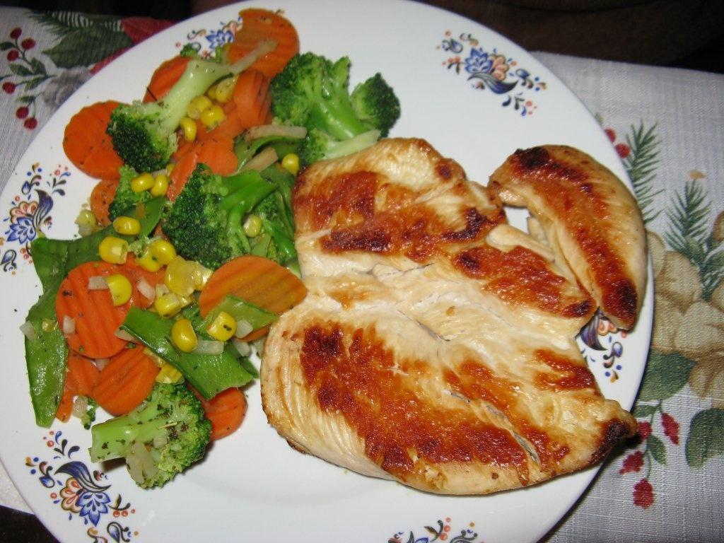 Куриная грудка, запеченная с овощами в духовке: рецепт, время приготовления