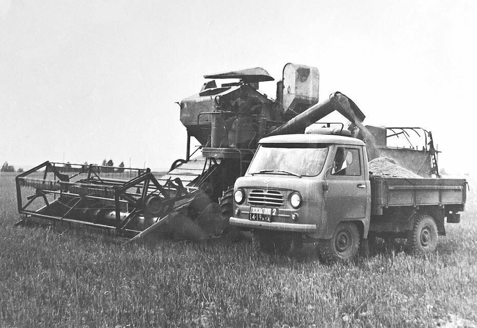 Кто помнит? Один из первых в Советской истории - самоходный комбайн СК 3