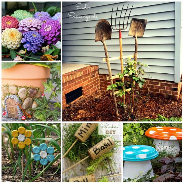Необычные идеи для украшения вашего сада