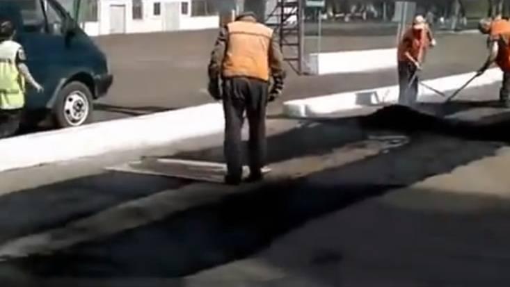 Видео укладки асфальта в Брянске стало хитом на НТВ